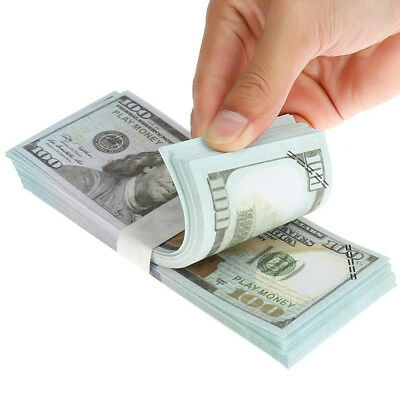 100 Pcs USD Paper $100 Dollar Bills Fake Currency Money Note Banknote Gift USA