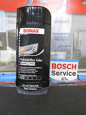 Original SONAX 296100 Polish & Wax Color schwarz 500ml NANO PRO