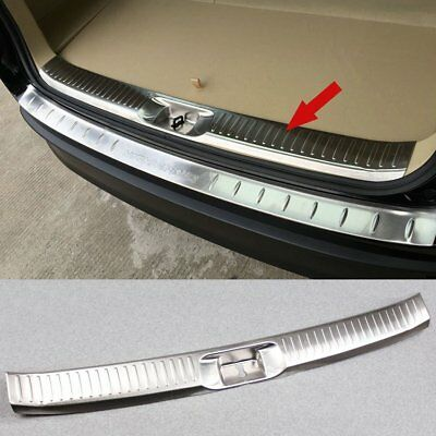 Stainless Rear Bumper Sill Plate Guard Trim For Toyota Highlander 2015 2016 2017