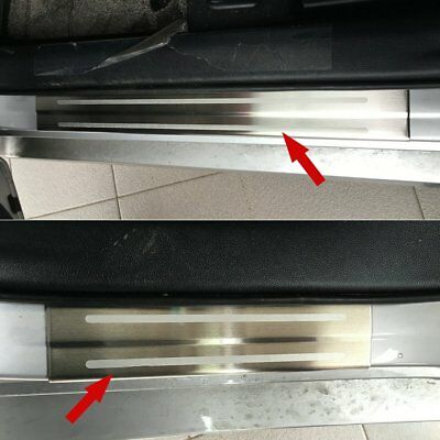 For Toyota Prius 2016-2018 Stainless Door Sill Scuff Plate Guard Cover Trims