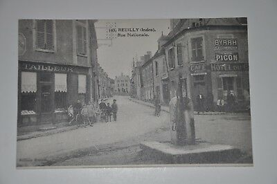 """Cpa 36 Reuilly """" Rue Nationale  """" Animee"""