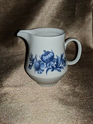 Vintage Kahla Cream Coffee Pot Porcelain German Democratic Republic Blue flowers