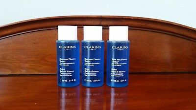 Clarins Relax Bath and Shower Concentrate - 3 x 100 ml tubes. New.