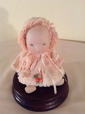 Vintage Small Porcelain Baby Signed By Artist Phyillis Parkins 1991