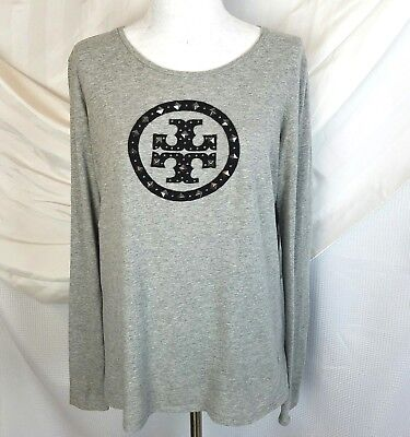 Tory burch top size S small shirt womens LOGO embellished long sleeved designer
