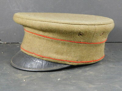US WW1 era bell-crown hat with red piping
