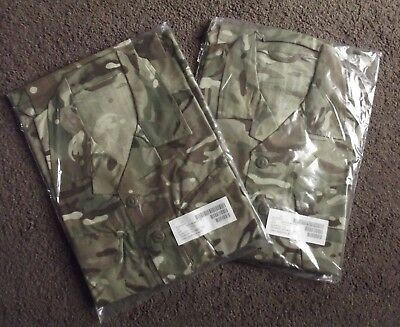 2 X Current British Army Barrack Shirts, In Mtp Camo, 170 / 112 - New