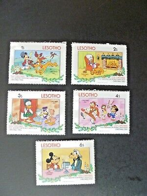 Nice Lot of Five1983 Disney Lesotho Stamps MH - See Description & Images