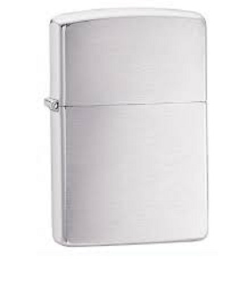 Beautiful Brushed Chrome Zippo lighter comes in a gift box  #200