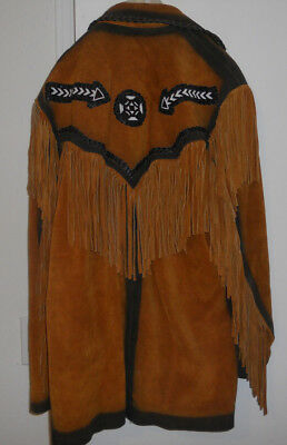 Men's Native American Jacket Real Leather by Tansmith