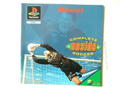51917 Instruction Booklet - Complete Onside Soccer - Sony Playstation 1 (1996) S