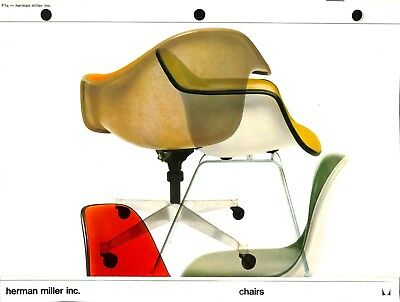 Vintage 1969 Charles and Ray Eames CHAIRS Catalog Herman Miller Alexander Girard