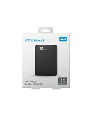 Western Digital WD Elements Portable Festplatte 1 TB extern tragbar USB 3.0 Schw