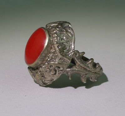 Nice Post Medieval Silver Seal Ring - No Reserve! 011