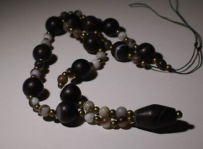 Ancient Agate Bead Necklace - Circa 2Nd Century Ad - No Reserve! 02