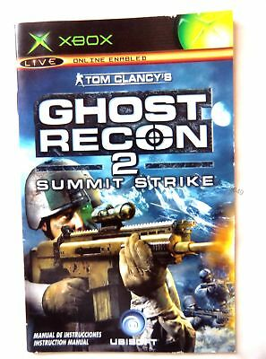 55849 Instruction Booklet - Ghost Recon 2 Summit Strike - Microsoft Xbox (2005)