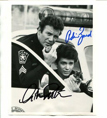 t j hooker William Shatner & Adriian Zmed signed autograph NO RESERVE B5490
