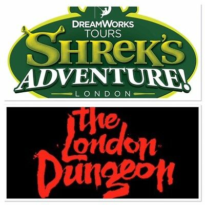 Shrek Adventure Or The London Dungeon Tickets x2