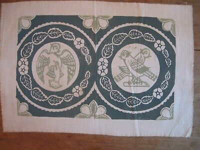 """Folly Cove Designers Placemat/Print """"Bird in the Hand"""" Dorothy Norton 1949"""