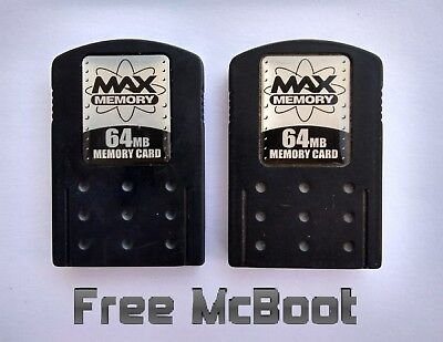 PlayStation 2 PS2 64MB Max Memory Cards mit FMCB - Free McBoot 1.964 Softmod