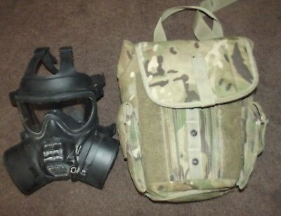 British Army Issued Gsm General Service Respirator, Size 3 Gas Mask