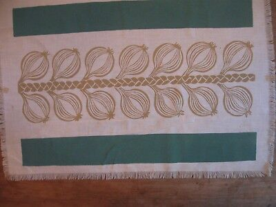 """Folly Cove Designers Placemat/Print """"Onions"""" Dorothy Norton 1946"""