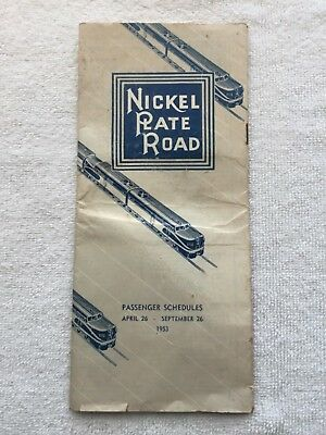 Nickel Plate Road Brochure Passenger Schedules 1953