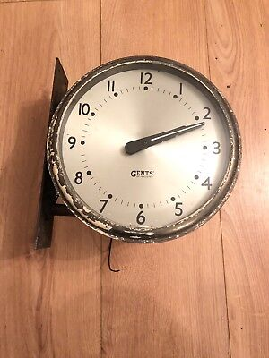 Gents Of Leicester Clock For Restoration Vintage Railway Factory School Brass