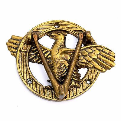 VICTORY EAGLE DOOR KNOCKER Brass Antique Vtg Patriotic American Bald