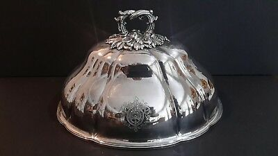 ANTIQUE ENGLISH OLD SHEFFIELD SILVER PLATE  MEAT DOME c.1811 by T & J CRESWICK