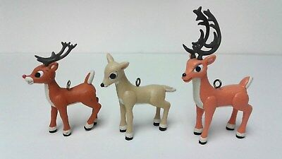 Rudolph, Donner, Mrs Donner 2003 Reindeer Ornaments~Island of Misfit Toys