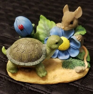 Charming Tails TIME TO SMELL THE FLOWERS FITZ AND FLOYD Figurine 89/765