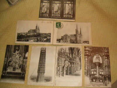 LOT 9 CARTE POSTALE 1905 CHARTRES 28 ECHAFAUDAGE CATHEDRALE ancienne cpa