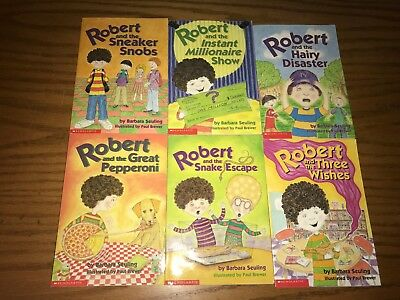 Robert and the ... lot of 6 diff. Scholastic paperback books by Barbara Seuling
