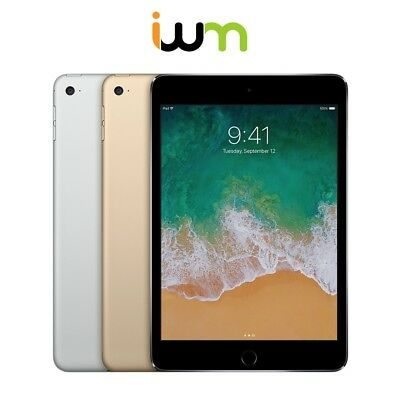 Apple iPad Mini 4 16GB 32GB 64GB 128GB WiFi OR Cellular - Space Gray/Silver/Gold