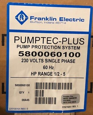 Franklin Electric Pumptec-Plus Pump Protection System 5800060100