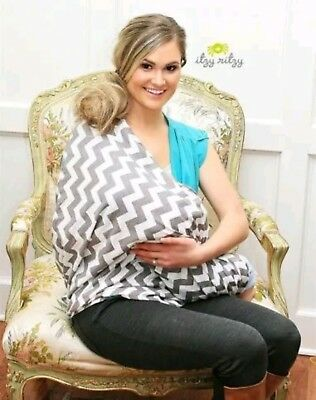 Itzy Ritzy Mom Boss 4-in-1 Multi-Use Nursing Cover, CarSeat Cover, Shopping Cart