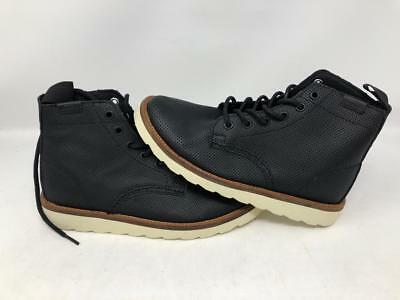 163334f06ac VANS SAHARA BOOT Perf Leather Black Athletic Skate Women's Size 5.5 New Wob