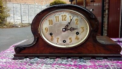 WESTMINISTER MANTEL CLOCK FOR SPARES OR REPAIR 1930s