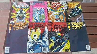 Marvel comics and marvel midnight sons comic book lot of 8 ghost rider