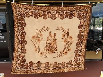 Antique Victorian Chase Sleigh Blanket Buggy Blanket Mohair Horse Floral Design