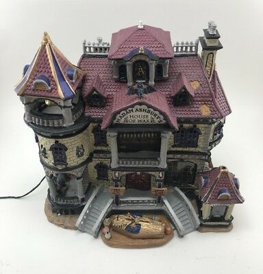 Lemax Spooky Town Collection Madam Ashbury Lighted House of Wax Halloween Decor