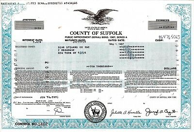 County of Suffolk 1990, 7,8% Public Improvement Bond due 2005 (10.000 $)