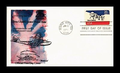 Dr Jim Stamps Us Cover Mount Rushmore Air Mail Fdc Scott C88 Fleetwood