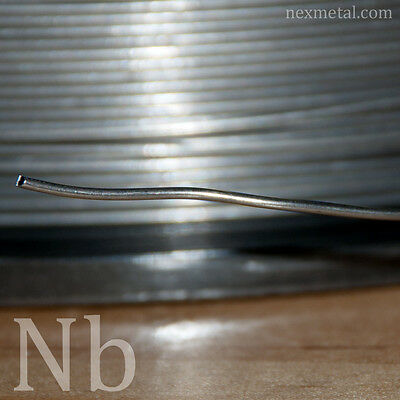 10 feet Nb1 Niobium wire 0.8mm (20 gauge) 99.99 pure Nb wire annealed smooth