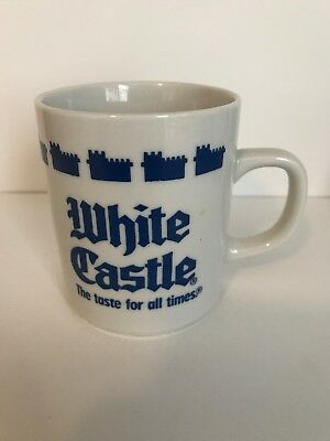 Vintage 1990 White Castle Coffee Mug Cup The Taste for All Times Blue & White
