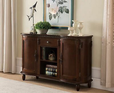 Kings Brand Furniture - Buffet Server / Sideboard Console Table Cabinet, Walnut