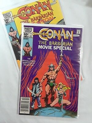 Conan the Barbarian Movie Special #1 and 2(Oct 1982, Marvel)