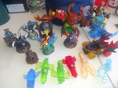 Skylanders  LOT OF 18 USED AND WORKING CONDITION