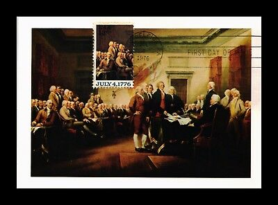 Dr Jim Stamps Us Postcard Declaration Of Independence Fdc Maxi Card Scott 1691